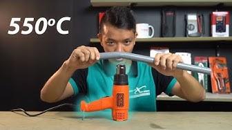 Trên tay máy thổi hơi nóng Black & Decker KX1800 - 550 độ, Sấy tóc ngon :D