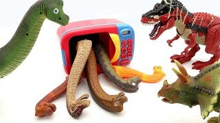 Toy Dinosaurs For Kids Learn Dinosaur Names Funny Video Jurassic World Giant Dino Toys