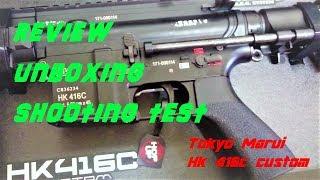 HK 416C TM CUSTOM//UNBOXING//SHOOTING TEST//REVIEW (HD)
