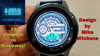 Samsung Galaxy Watch/Gear Watch Face by Mike Wickens - 10 Coupons to Giveaway! - Jibber Jab Reviews!