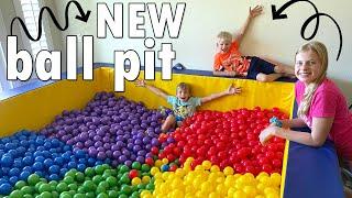 Huge Ball Pit Room Makeover!!