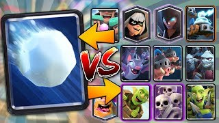 NEW GIANT SNOWBALL vs ALL CARDS!! | Clash Royale | NEW GIANT SNOWBALL GAMEPLAY & BEST TIPS!