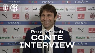 "AC MILAN 0-3 INTER | ANTONIO CONTE EXCLUSIVE INTERVIEW: ""Proud of the lads' work"" [SUB ENG]"