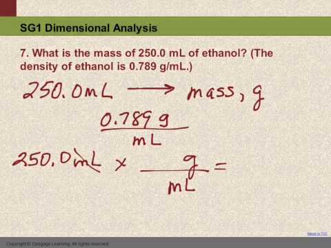 10 SG1 #7 Convert mL to g using density - YouTube