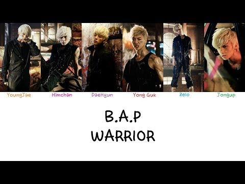 B.A.P - Warrior (Color coded lyrics Han|Rom|Eng)