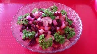 Вкусный и простой рецепт салата Винегрет с грибами Винегрет рецепт