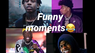 2019 Rappers funny moments (ft DaBaby, lil baby, polo g, and more)