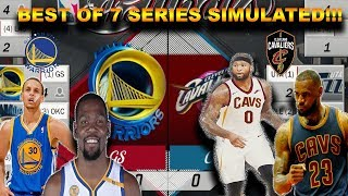 Can the Cavs beat the Warriors with Demarcus Cousins in a BEST OF 7 Series? SIMULATION ON NBA2K17!