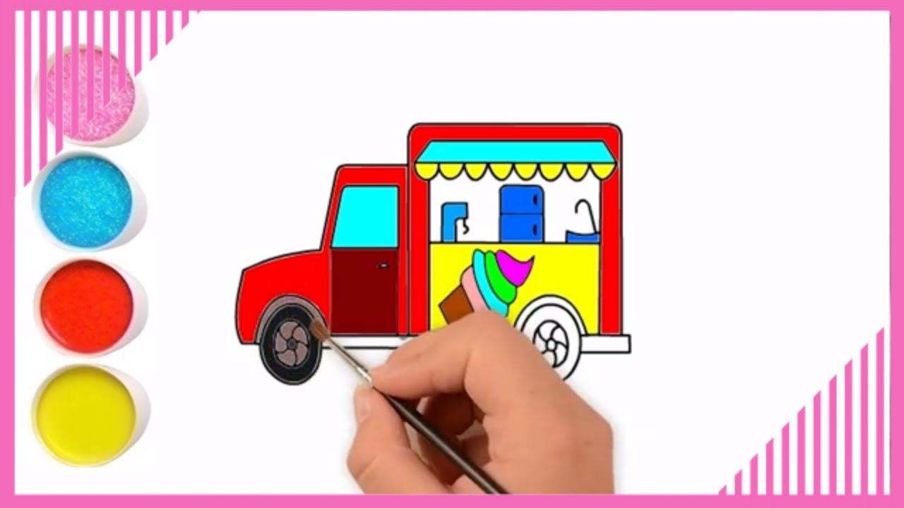 Cara Menggambar Mobil Es Krim Mewarnai Gambar Mobil Untuk Anak Anak Youtube