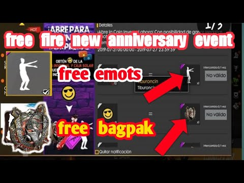 Free fire new event in bangla   free emots    free bag pack