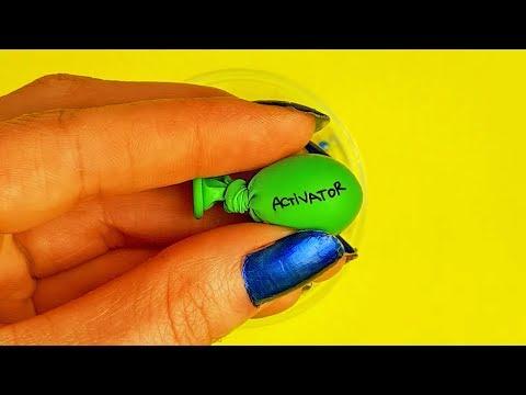 Making Glitter Slimes with Mini Balloons - Satisfying Slime
