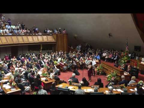 Raiatea Helm -- Hawaii State House of Representatives Opening Day