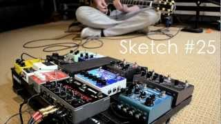 Sketch #25: Eventide Space Reverb + EHX Deluxe Memory Man w/ Tap Tempo Ambient Setting