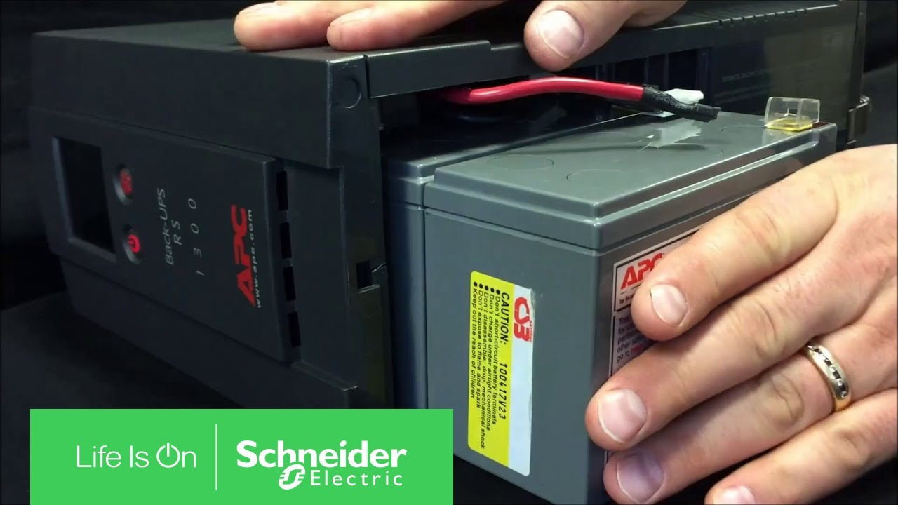 replacing battery on back ups xs rs lcd series schneider electric support [ 1280 x 720 Pixel ]