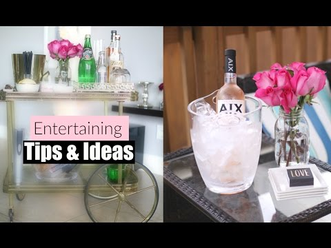 Entertaining Tips & Ideas - At Home Entertaining & Hosting  Collab With Nitraab - MissLizHeart