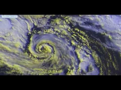 Life cycle of Category 3 Tropical Cyclone Calvin (Qendresa)