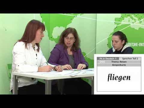Fit In Deutsch 1 Speaking Example Youtube