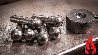 Blacksmithing - Forging dome head rivets