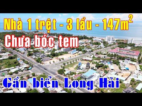 NVT2030 - Flycam - Bán nhà nghỉ mới tinh gần biển Dinh Cô Long Hải mt Võ Thị Sáu dt 147m2 giá 7.2 tỷ