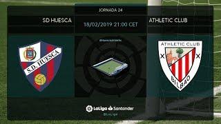 Calentamiento SD Huesca vs Athletic Club