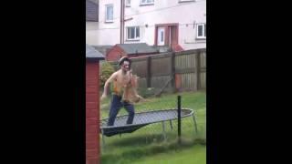 Trampoline Fail Face Plant From A Midget Boxer Greenock Scotland Lol John Simpson Funny Epic Fail