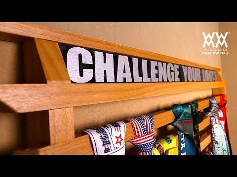 Running Medals Display Rack | Woodworking Project
