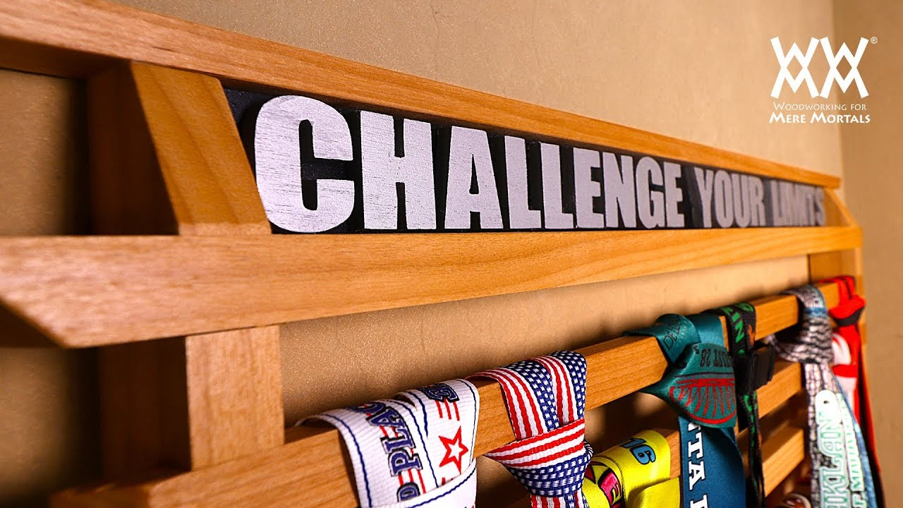 Running Medals Display Rack Woodworking Project Youtube