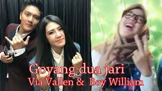 Via Vallen feat Boy William goyang dua jari