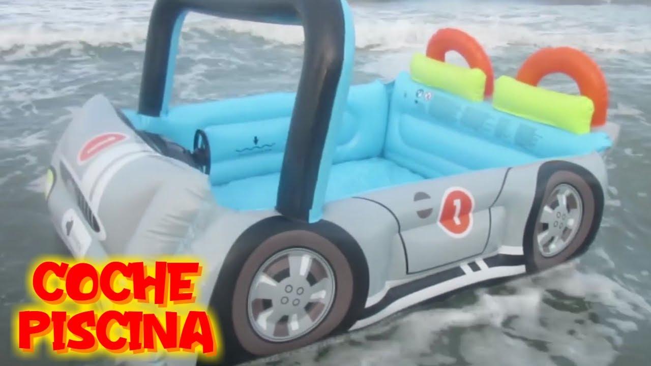 Dino y el gran coche piscina en el mar | Vídeos de dinosaurios para niños