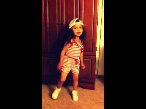 "Amaya 3 year old rapping cover to ""BABY KAELY"" ""Hunt Them Down"""