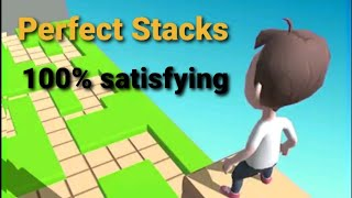 Most Satisfying Game _ Stacky Dash _ Level 1-10 walkthrough - All Perfect stacks.