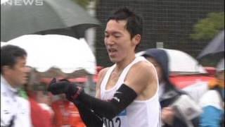 4回目の東京マラソン 藤原正和選手が日本人初優勝(10/02/28)