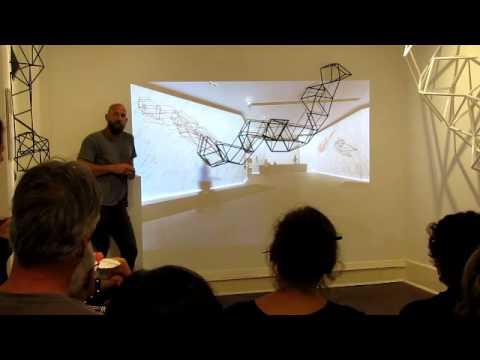 Dion Horstmans Artist Talk 'Elektromont' March 2015 Flinders Lane Gallery