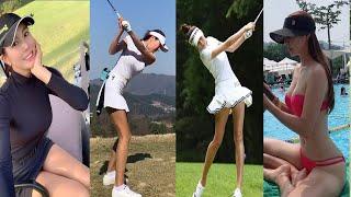 177cm 수퍼모델 하연화 아름다운 아마추어골퍼 골프스…
