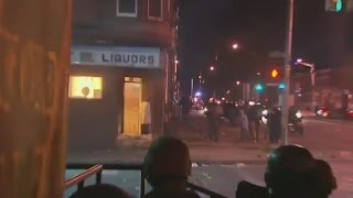 Liquor store on fire, chaos on Baltimore streets