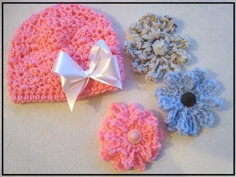 Crochet Shell Stitch Baby Hat How To Diy Youtube