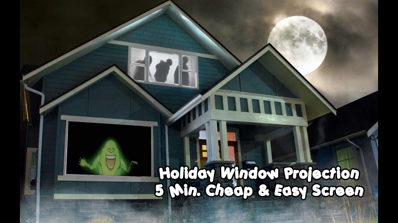 Images Of Holiday Decorations 5 minute cheap and easy rear projection screen for window holiday