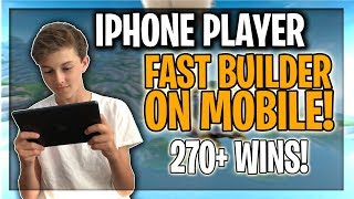 PRO Mobile PLAYER on iPhone! // FAST Builder! // 200+ Wins! // Fortnite Mobile Gameplay!