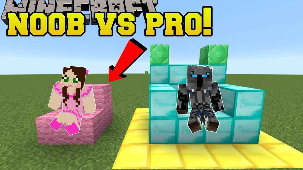 minecraft noob vs pro build battle mini