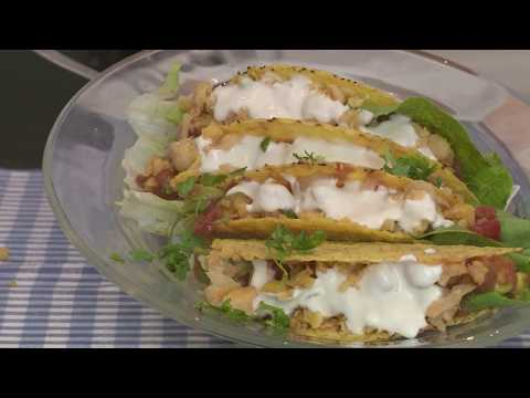 Tacos with chickpea salsa on Better Living Tvshow (Vegan)
