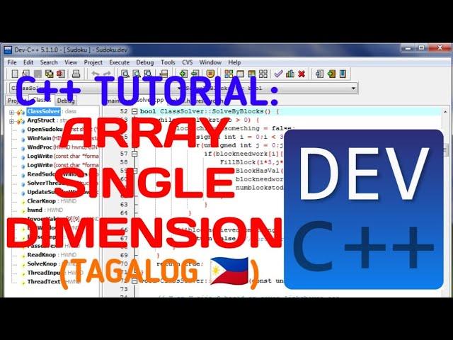 C++ TUTORIAL: ARRAY - SINGLE DIMENSION (TAGALOG)