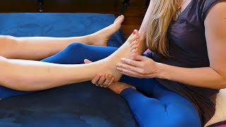 Relaxing Thai Bodywork for the Feet | Tutorial with Meera, Techniques, How To, Soft Voice & Music