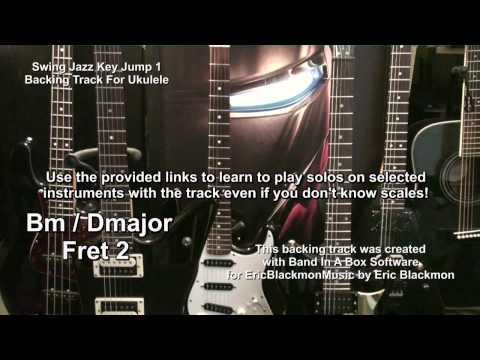 Swing Jazz Backing Track With Key Jump For Ukulele Solo With Lesson Link EBTL