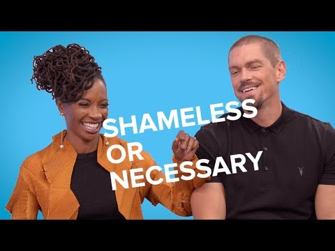 Shameless' Shanola Hampton and Steve Howey Play Shameless or Necessary