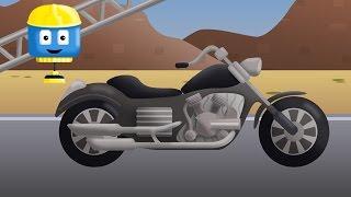 Motorcycle  - Tom & Matt the Construction Trucks | Construction Cartoons in 3D for kids