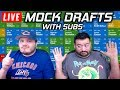 Live Fantasy Football Mock Drafts with Subs