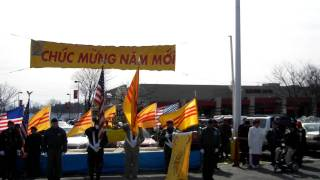 South Vietnam Flag Ceremony  on 2011 Tet
