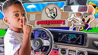 DJ SLEEP 24 HOURS OVERNIGHT CHALLENGE IN CHUCK E CHEESE WITH THE PRINCE FAMILY COMPILATION!!