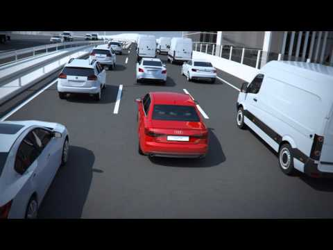 Audi A4 traffic jam assistant system animation