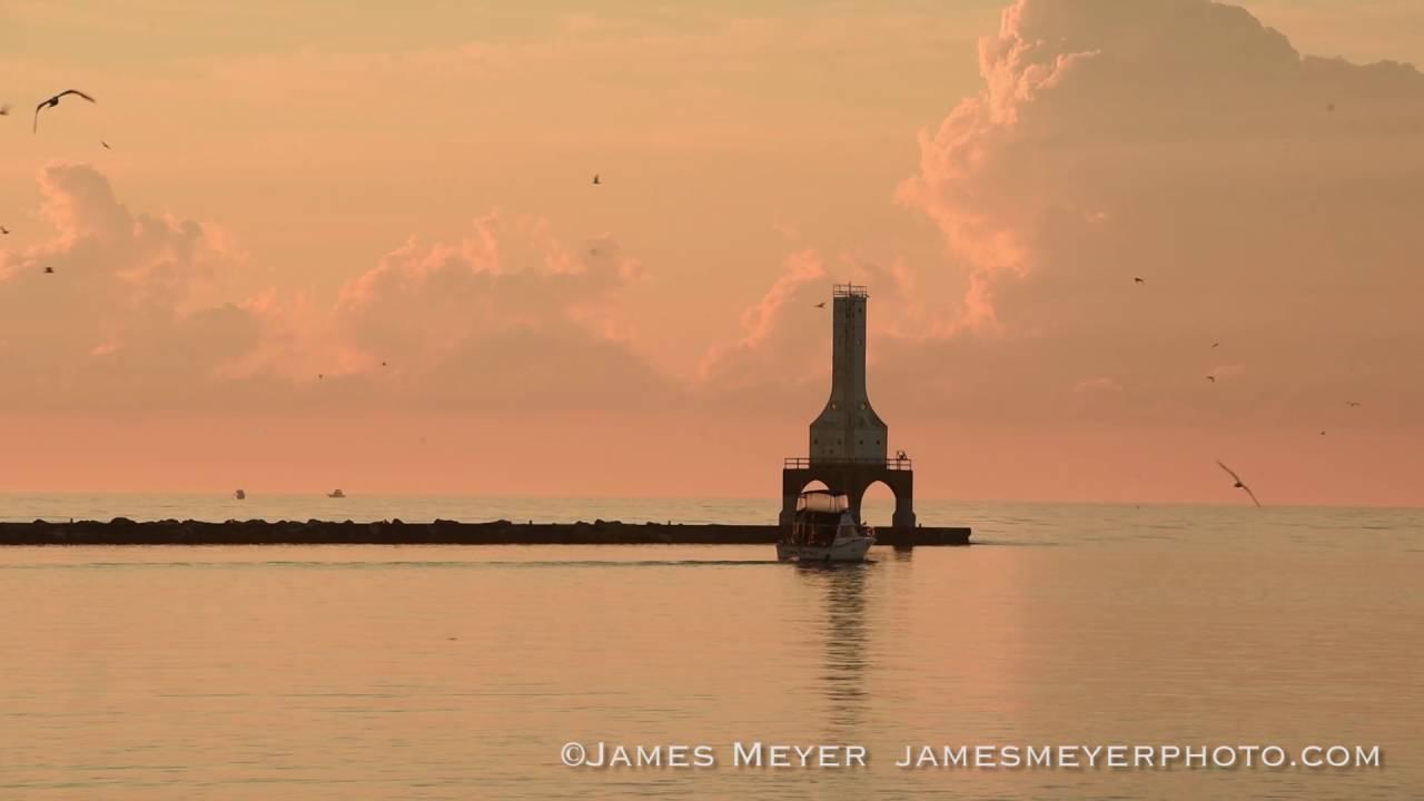 Sunrise for fish day in port washington wi youtube for Port washington fishing